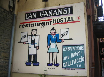 Cartell de l'Hostal Can Ganansi
